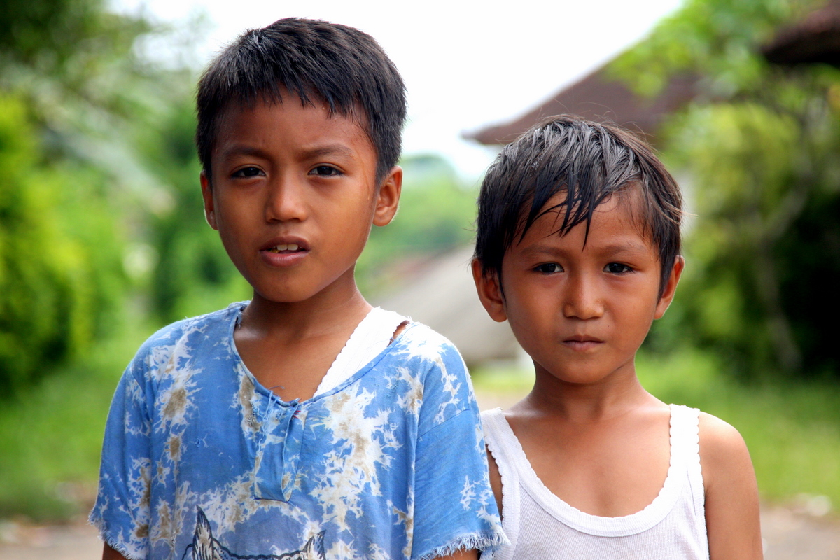 Young Boys in Rural Bali