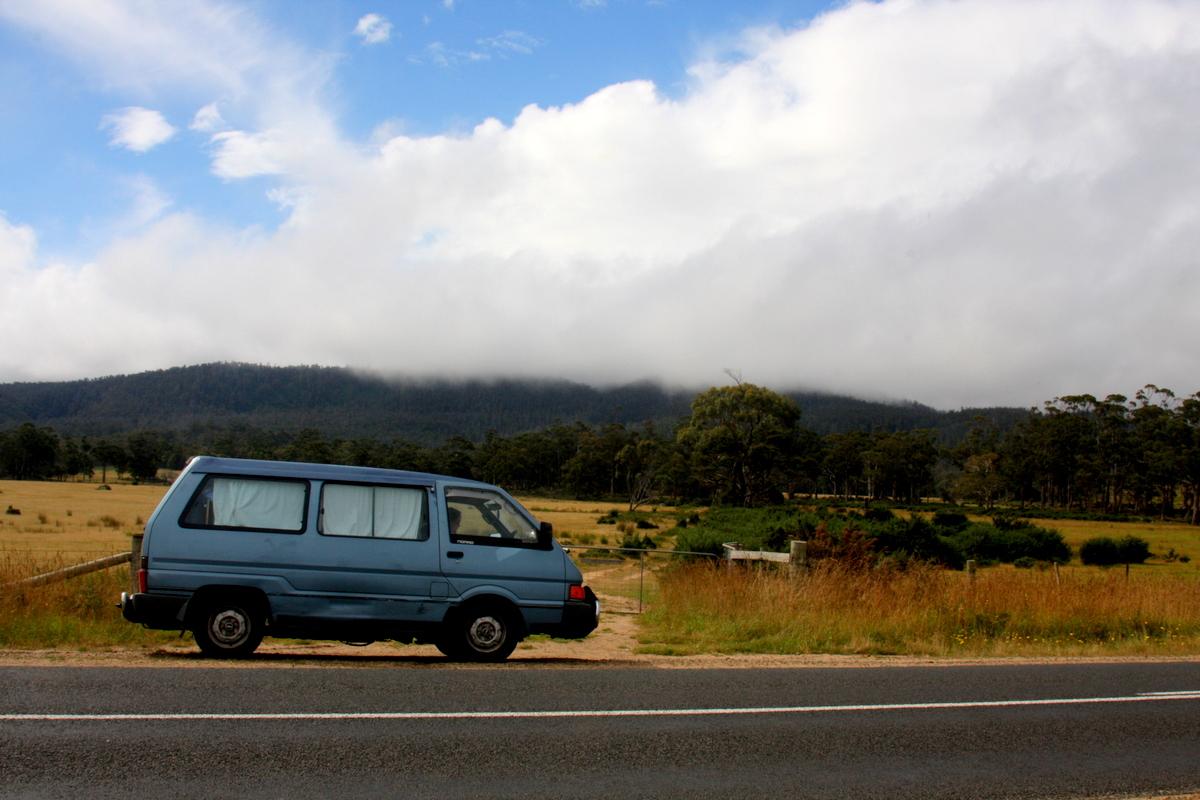 Campervan in Tasmania
