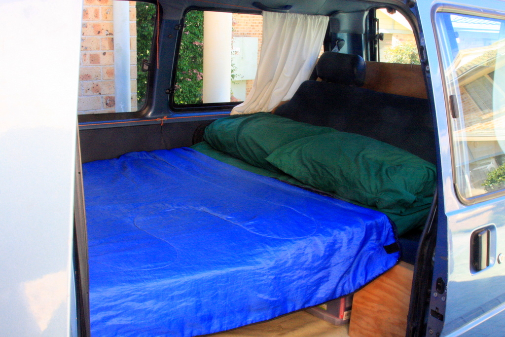 Bed Inside Campervan