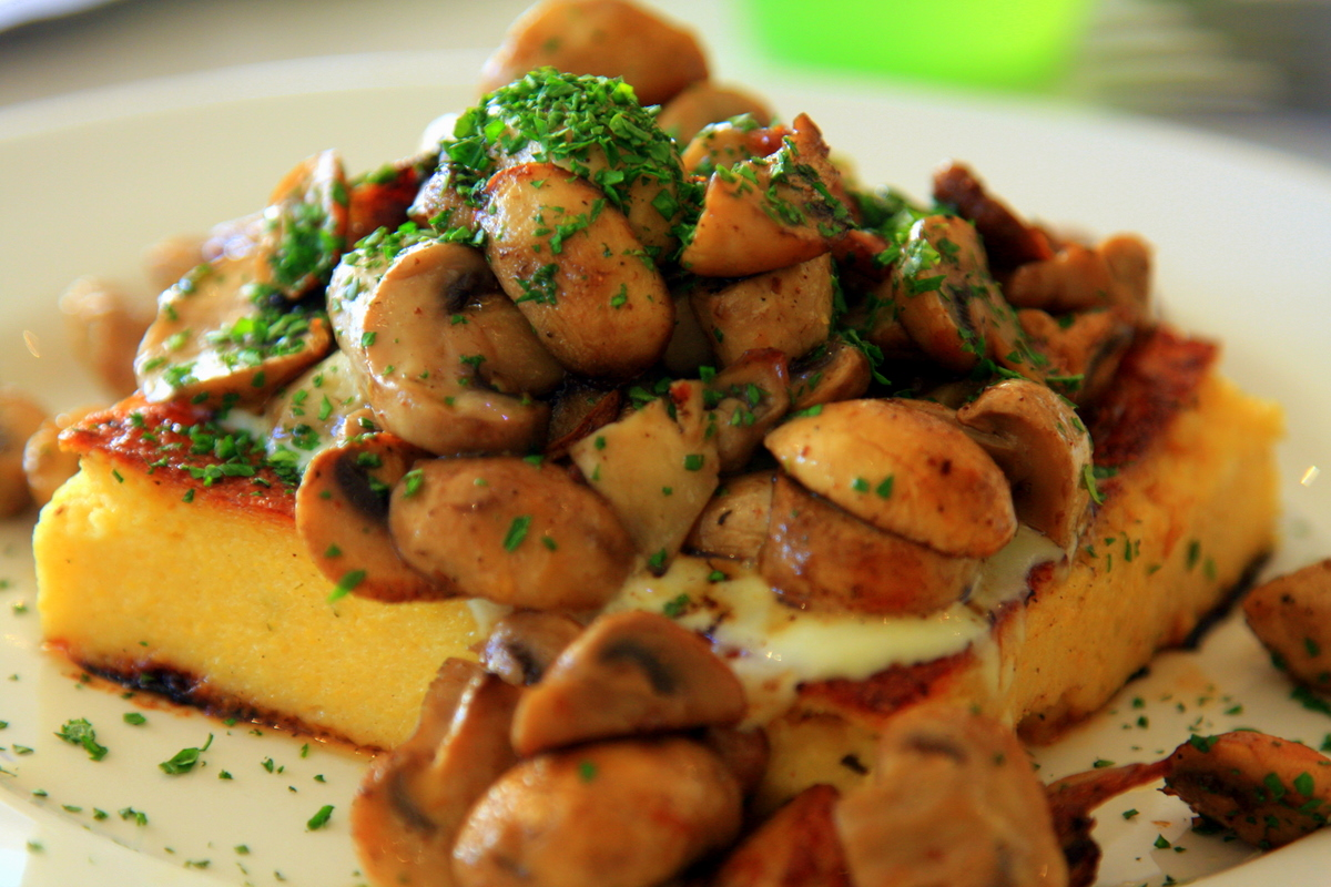 Polenta & Mushrooms at Toast, East Perth