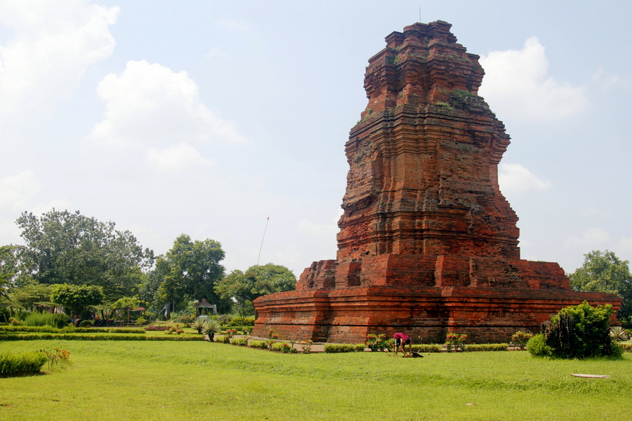 Temple in Trowulan, outside Surabaya