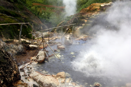 Boiling water near Dieng Central Java