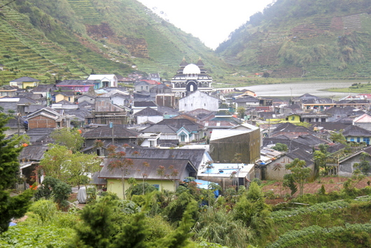 Small town on the Dieng Plateau