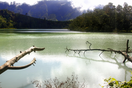 Telaga Warna, the coloured lake in Dieng
