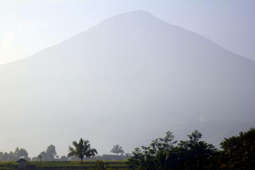 Huge volcano near Garut
