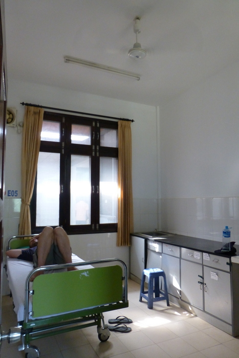 This is the VIP room in Luang Prabang Hospital - god help those out in the general ward
