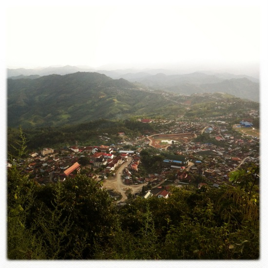Phongsali from above