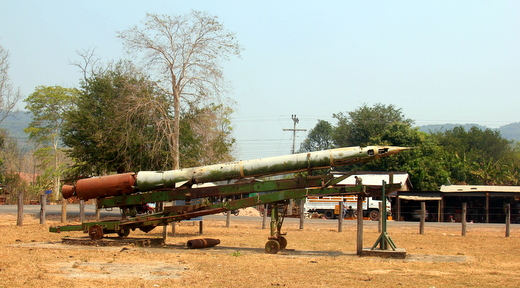 Missile made by the Russians, used by the Vietnamese, located outside of Attapeu