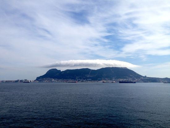 Gibraltar from the ferry to Ceuta