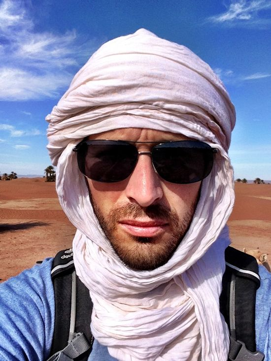 Adam in Morocco dressed like a Berber