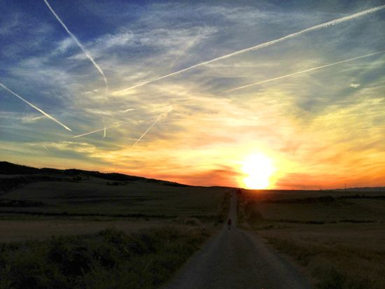 Sunrise every single day on the Camino - one of the best things about it!