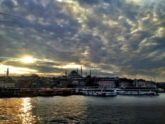 Walk across Galata bridge at sunset and just absorb the atmosphere