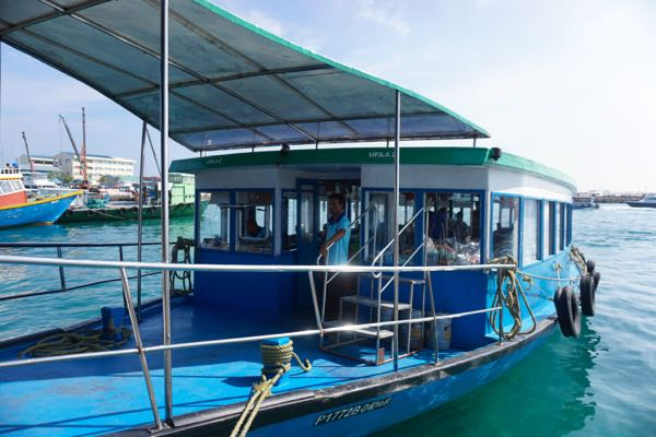 Local ferries are an incredibly cheap way to get around the Maldives.