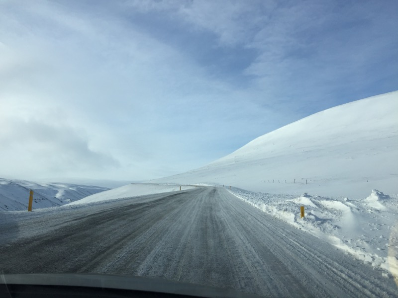 Iceland Mountain Pass in Winter
