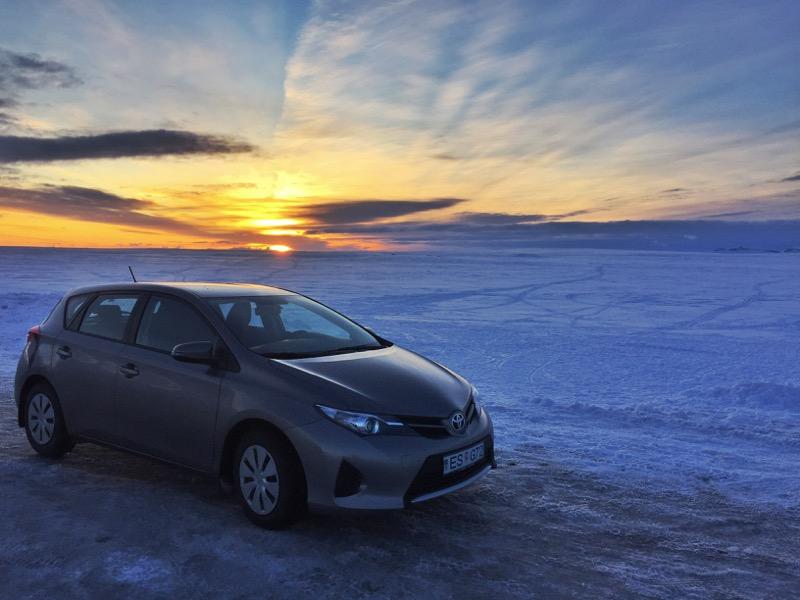 Rental car in Iceland in Winter