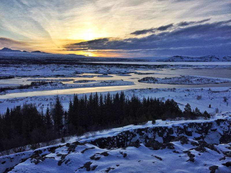 Thingvellir Sunrise Iceland Golden Circle