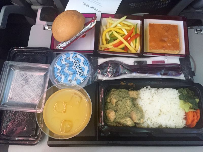 Qatar inflight meal