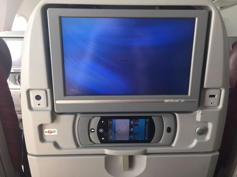 Qatar seat back entertainment