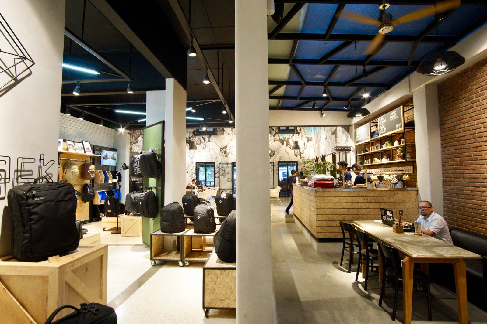 Eiger Coffee and bag store