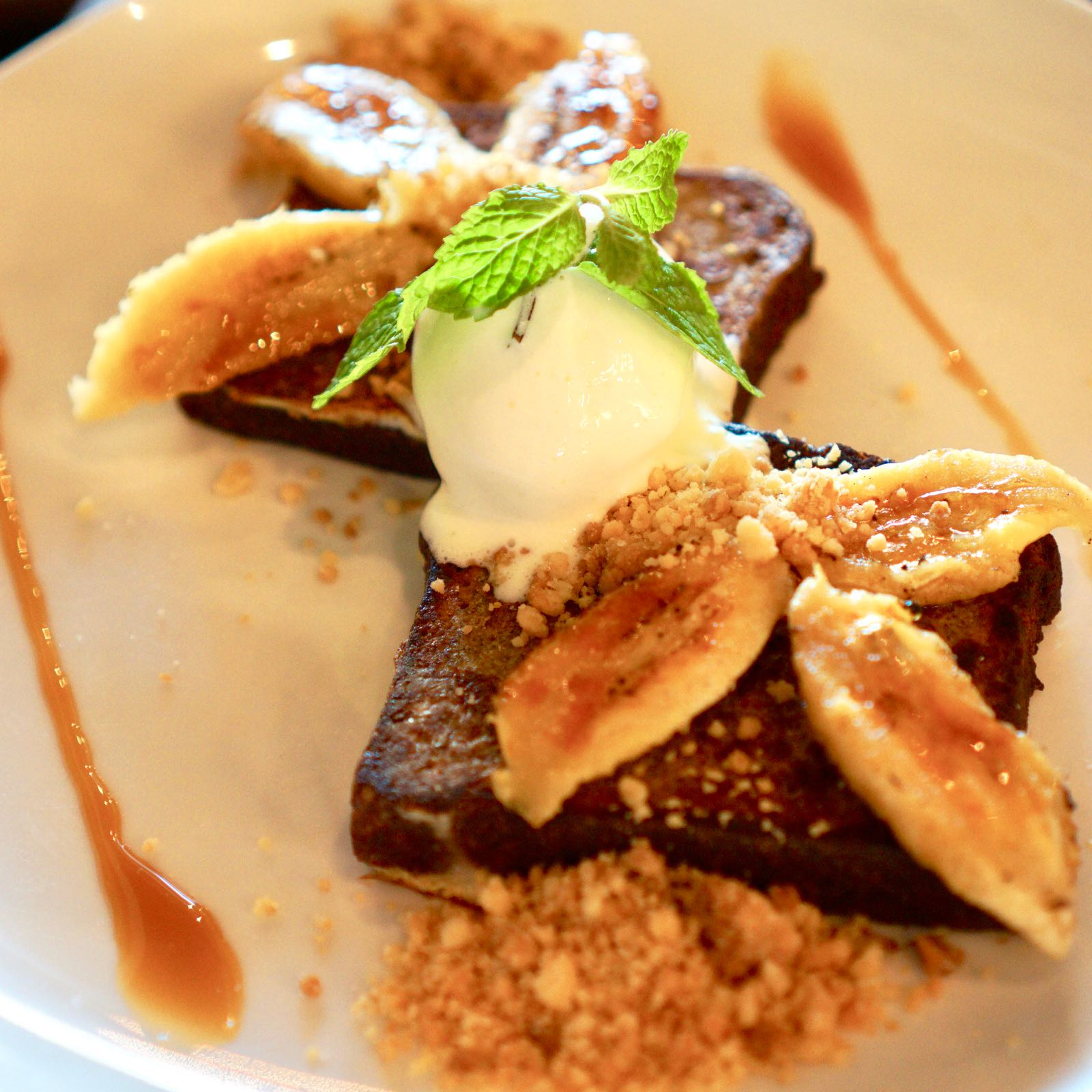 Banana Bread French Toast Fat Turtle Bali