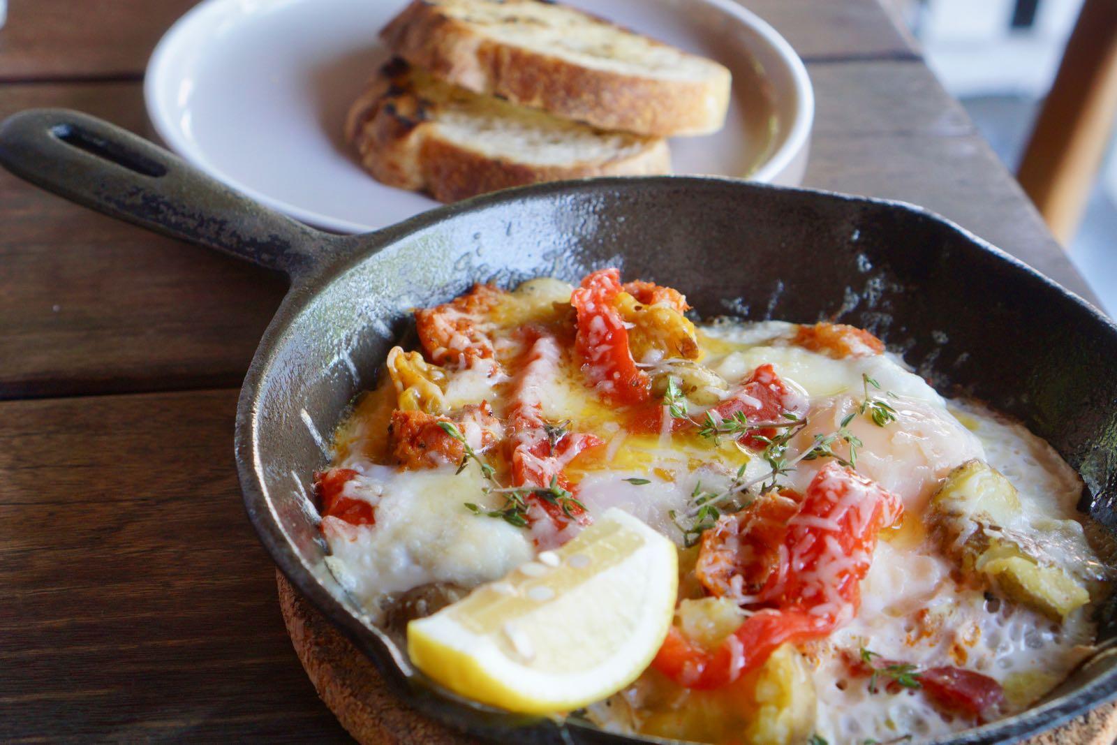 Organic Skillet Eggs