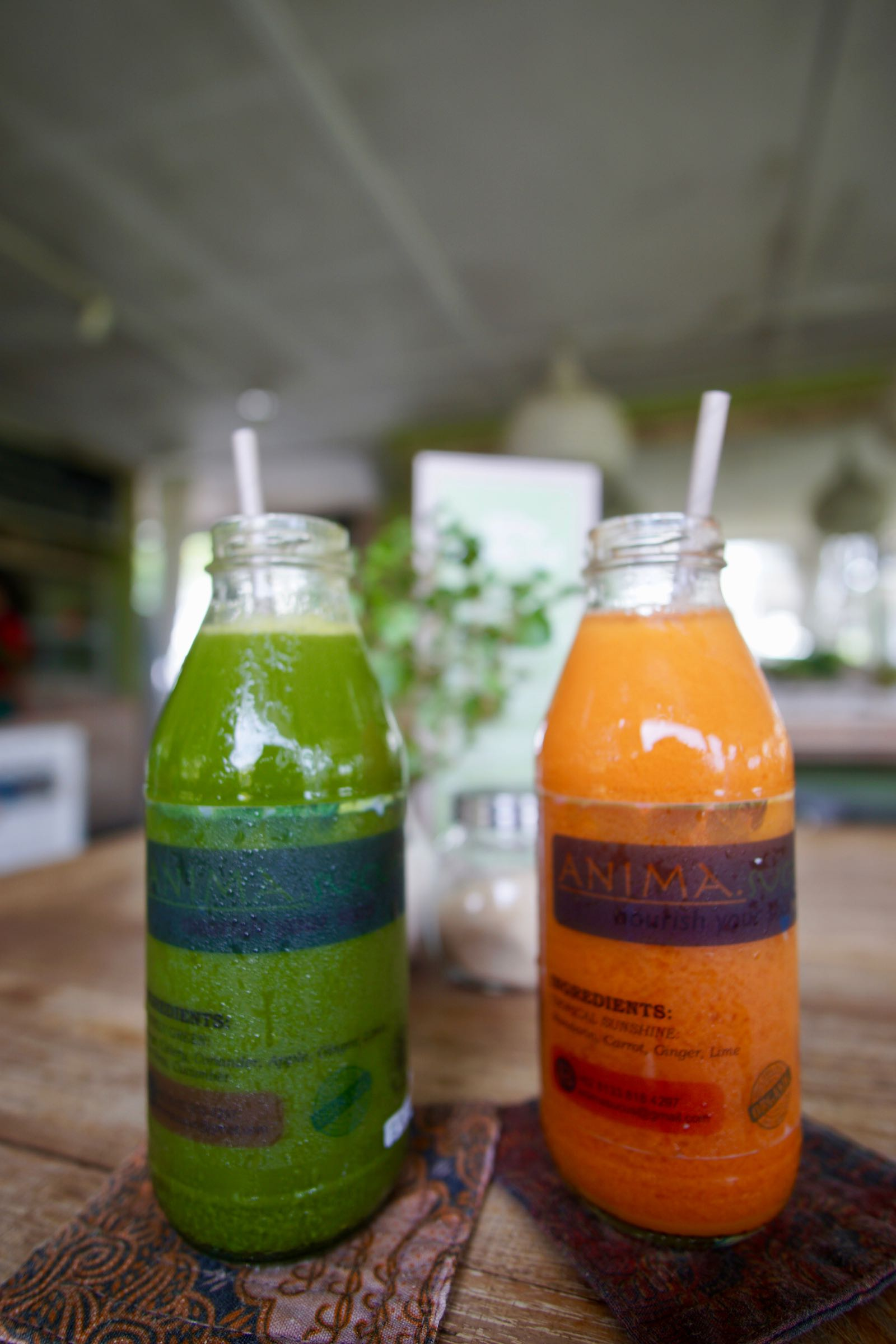 bottled juice at Nook