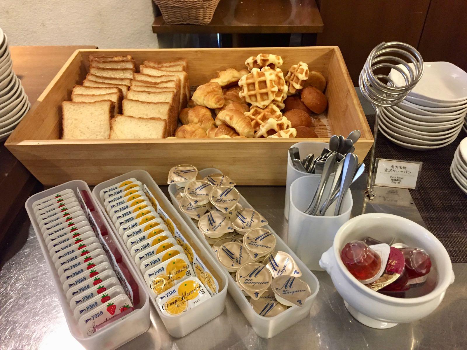 Breakfast buffet at Dormy Inn Kanazawa