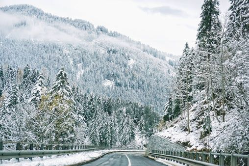 Snowy Liechtenstein On The Road To Malbun