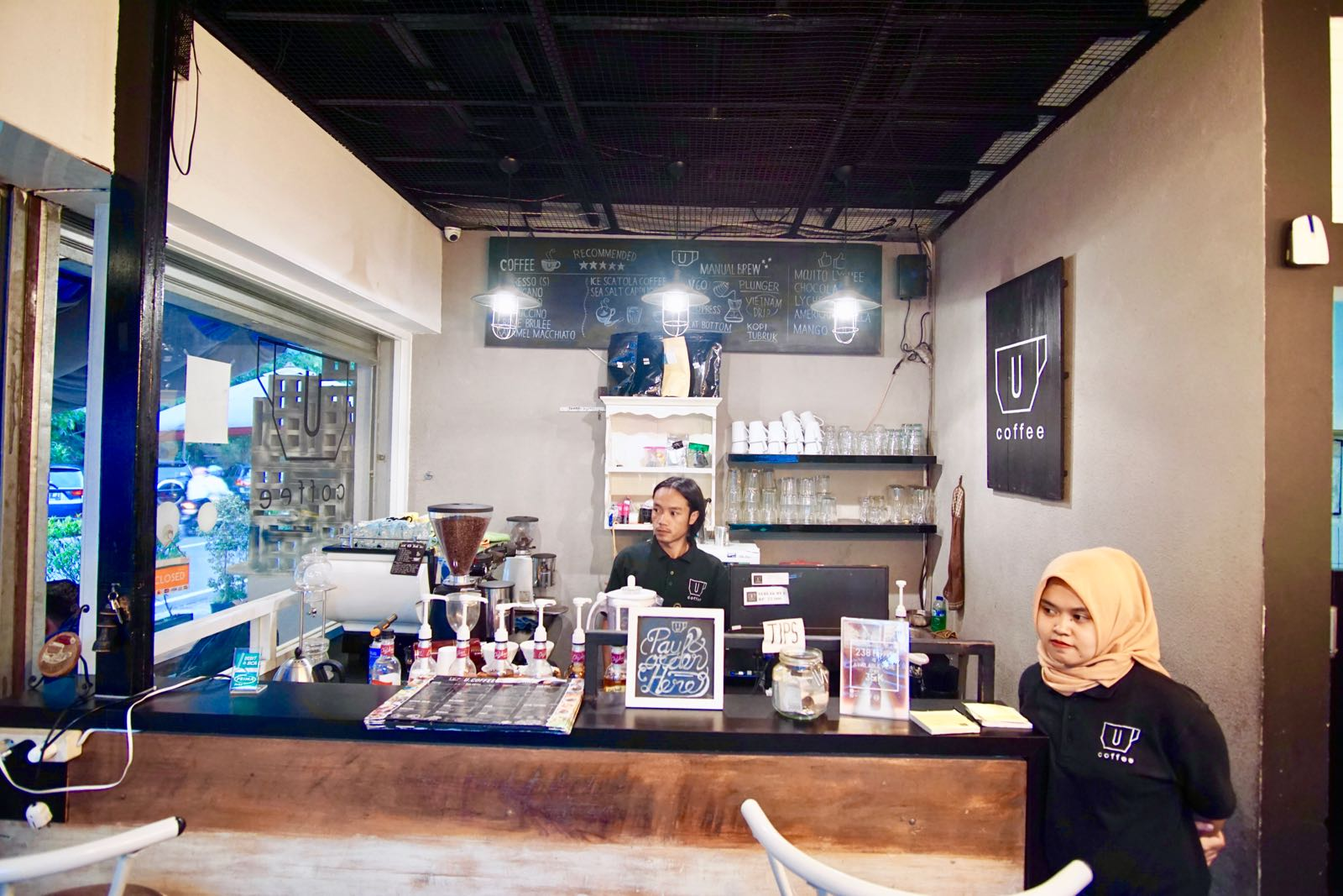 U Coffee Bandung Counter