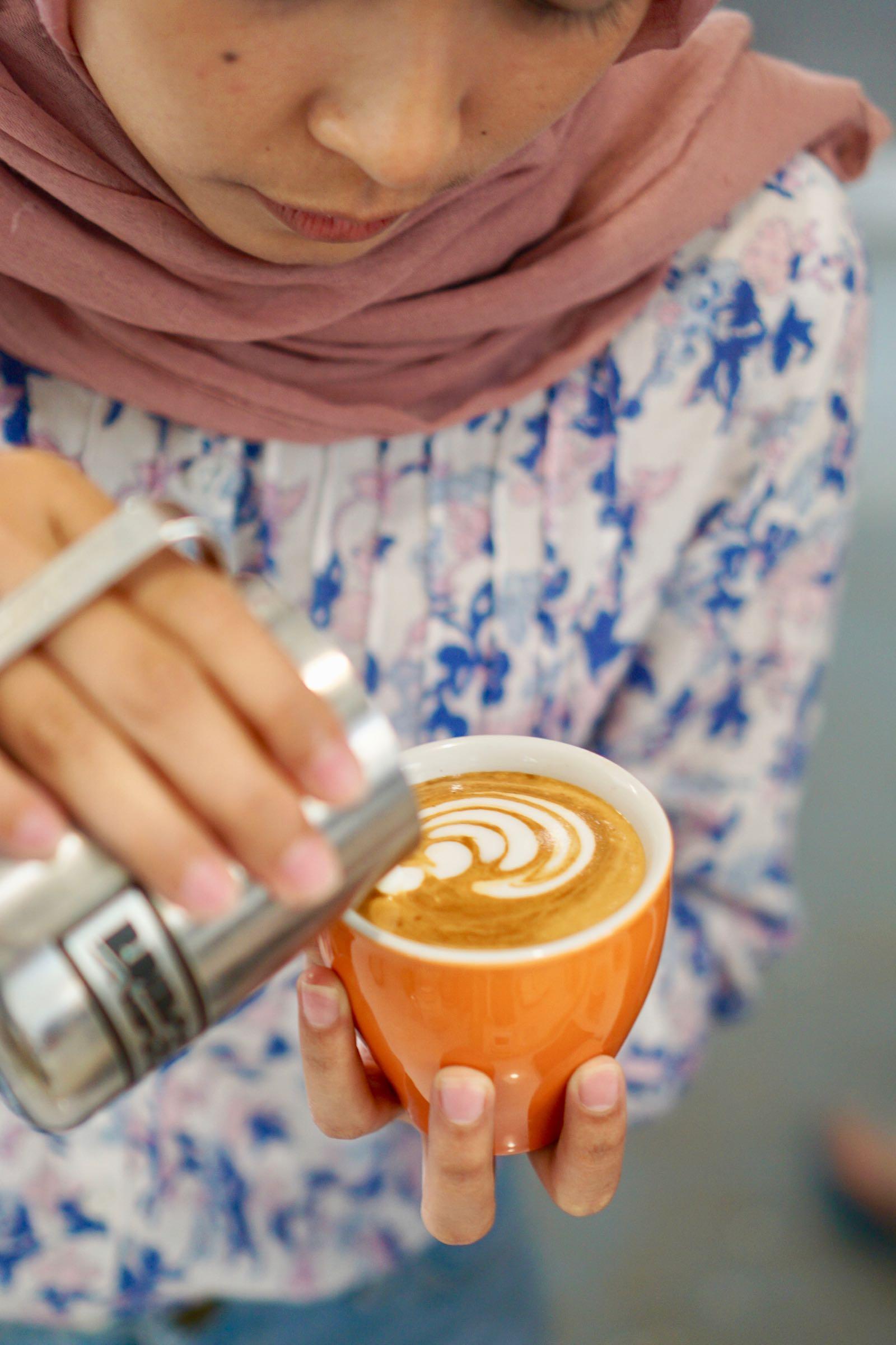 Cappuccino At Diskus Cafe Bandung