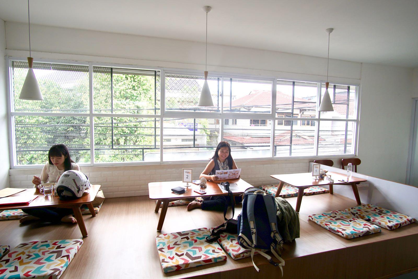 Lesehan Area At Diskus Cafe Bandung