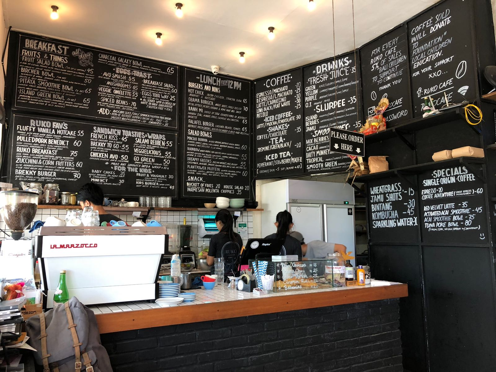 Ruko Cafe Canggu Interior