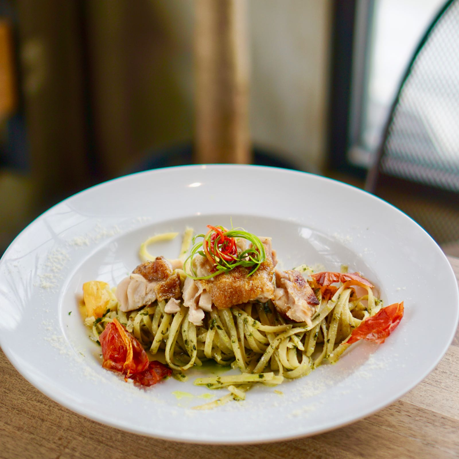 Chicken Pesto Linguini At Hara Bandung