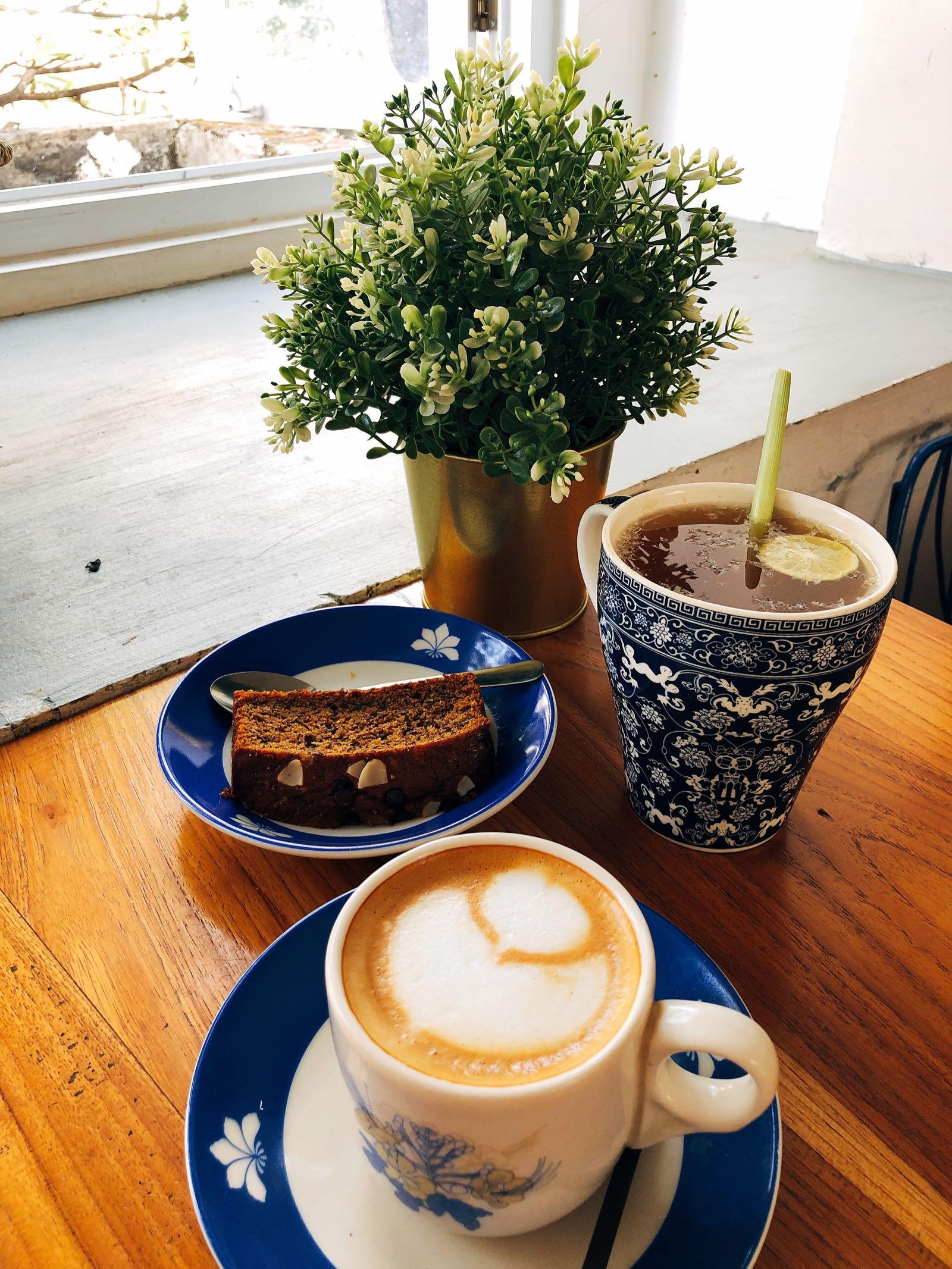 Coffee And Banana Bread At Warung Kopi Limarasa