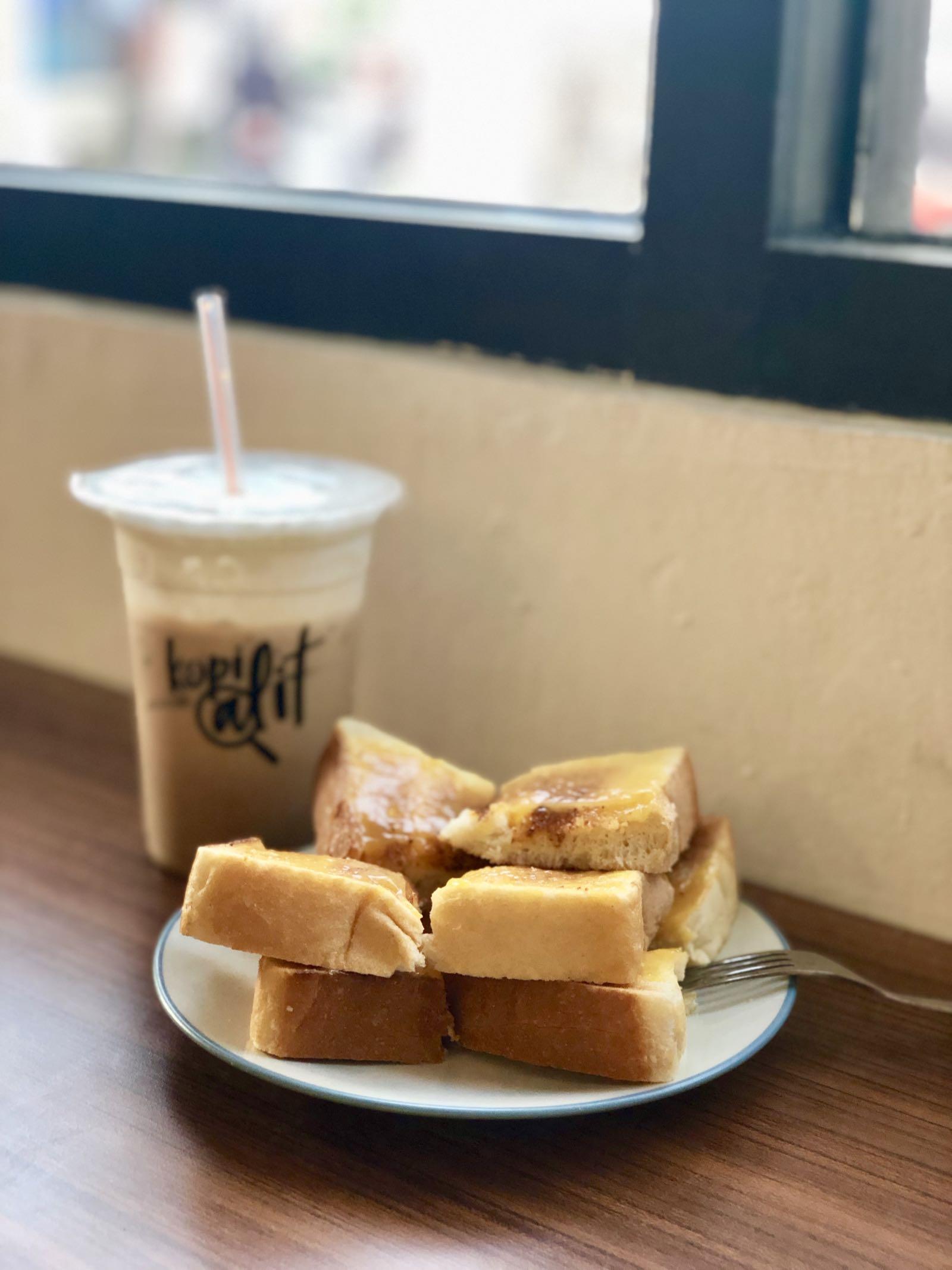 Kaya Toast At Kopi Alit