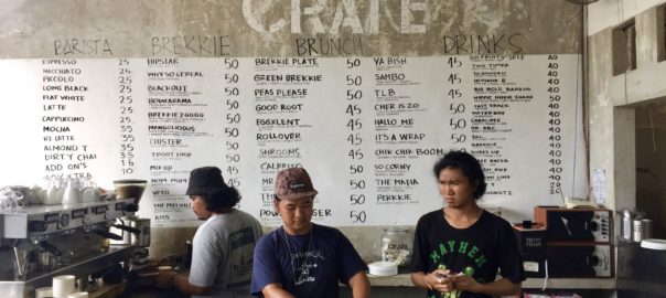 Menu at Crate Cafe Canggu