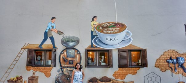 Mural at Academy Roastery Cafe